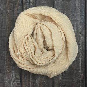 Beige cotton scarf shawl hijab turban wrap NWT